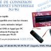 Clé de connexion Internet Universelle 3G/4G (Modem)