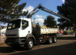 camion renault benne grue