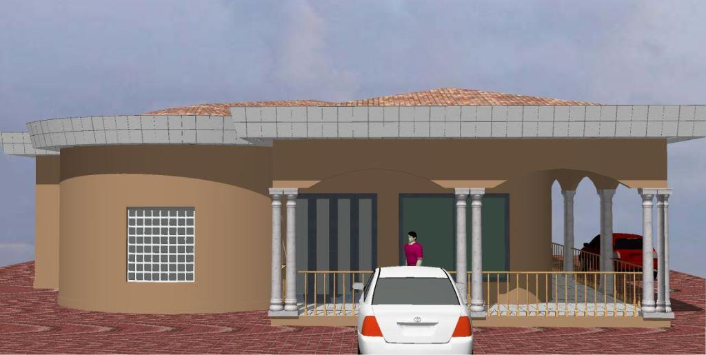Conception et ventes des plans de villas duplex for Plan de maison moderne au cameroun