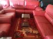 Salon en cuir rouge parfait état 8 places