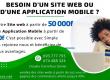 Création de site web à partir de 50 000 F