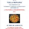 Soirée à thème à la Villa MONAMA – Paëlla traditionnelle –