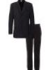 VENTE COSTUME NOIR RAYURES BLANCHE COUPE ITALIENNE
