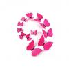 Stickers 12 Papillons 3D Roses Autocollants Muraux
