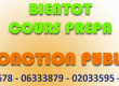 COURS DE PREPARATION FONCTION PUBLIQUE 2020