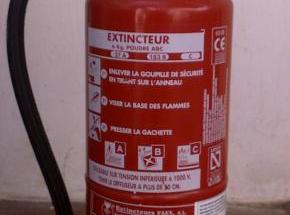 Export extincteurs au Gabon
