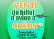 Billets d'avion à crédit à l'Agence de Voyage UN POUR TOUS
