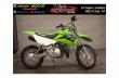 2016 kawasaki dirth bike for sale