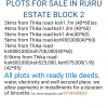 few plots remaining in the growing Ruiru, Murera block 2 estate.