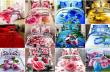 Amidy mora : Lot de couvertures de lit 3D 100% coton, motif floral (matevina tsara)