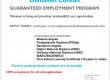Free employment programme