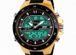 Skmei 1016-G Digital Analog Silicone Strap Sport Watch