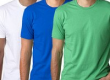 Pack Of 3 BYC Men's O-Neck T-Shirt – White,Blue&Green