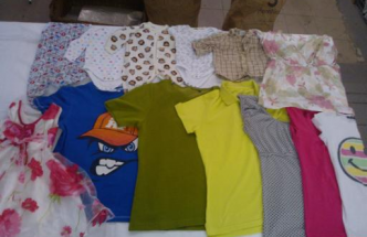 Selling used clothes tropical mix