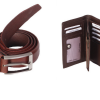Leather Wallet and Belt Bundle Size 32 – 40