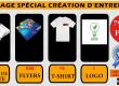 PROMO PACKAGE; T-shirt;flyers;carte de visite;logo