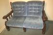 Used blue lounge suite