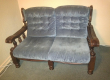 Used blue lounge suite