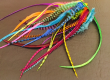 Grizzly rooster feathers hair extension with clips available