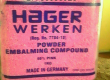 HAGER WERKEN EMBALMING POWDER HOT 0786655025