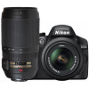 Nikon D3200 DSLR with 18-55mm VR + 55-200mm VR +50mm Triple Lens