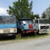 camion BERLIET 10 roues plateau long